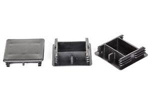 Unistrut Plastic End Caps   41x41mm   41x21mm   White   Black