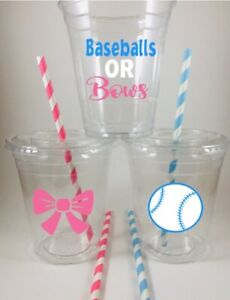 Gender Reveal Party Straws Set of 12