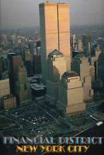 World Trade Center, The Twin Towers, New York City, Aerial View --- Postcard