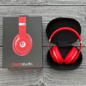 Dr Dre Red Beats Studio Wired 2 0 Over Ear Headphones Pre Owned Ebay