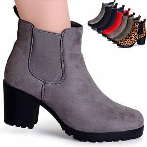 Damen Schuhe | Gabor Stiefeletten Velours Absatzart: Block