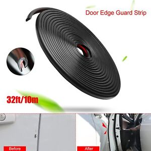 10M 32FT PVC Seal Strip Carbon fiber Car Door Edge Guards Protector U Shape Trim