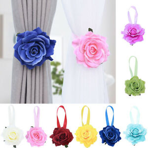 HOT-Flower-Magnetic-Curtain-Buckle-Tieback-Holdback-Holder-Clip-Bedroom-Decor-Co