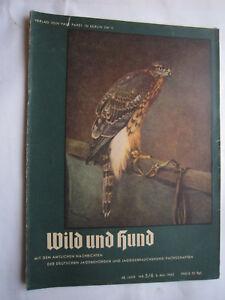 """Jäger & Waidmann Nr.5/6 Von 1942,jagd,jagdhund,pirsch Bequemes GefüHl SchöN Jagdzeitung""""wild Und Hund""""48.jahr"""