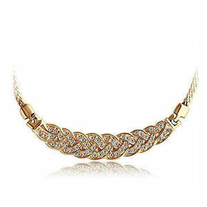 18K-Rose-Gold-Plated-Wheat-Necklace-stud-with-Diamond-Crystals
