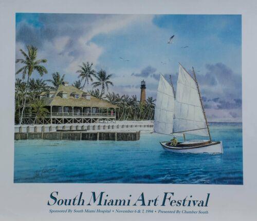 "Capen Phil /""South Miami Art Festival/"" 1994 Signed original Poster"