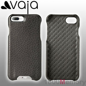 new product 1c0ae 333f2 Details about GENUINE Vaja Grip Floater Premium Leather Case Black Apple  iPhone 8 7 Plus 5.5