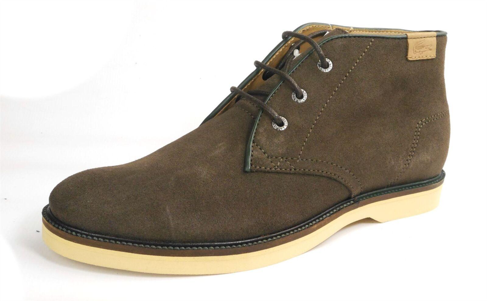 Lacoste Sherbrooke Da Uomo Stringati In Pelle Scamosciata Desert boots Marrone