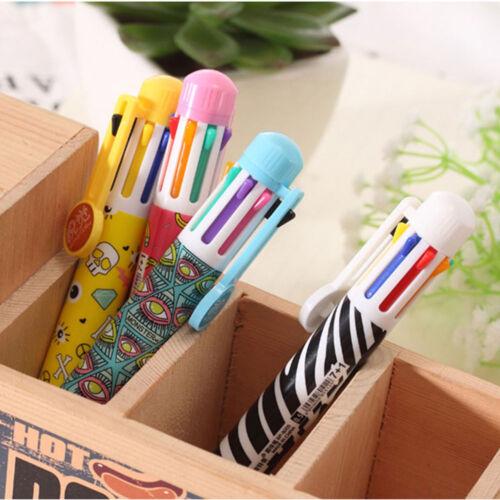 school chunky girl korean pens 8 in 1 color ballpoint pen cute stationery kids teens school supplies pencil