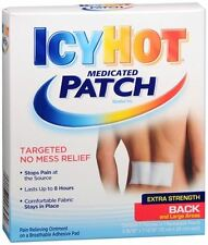 ICY HOT Medicated Patches Extra Strength Large (Back) 5 Each (Pack of 2)
