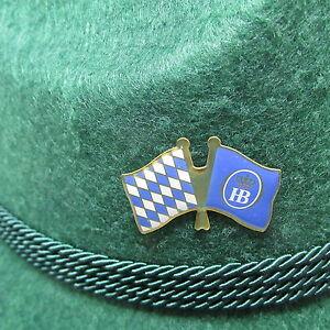 Bavarian HB Flag Oktoberfest Hat Pin