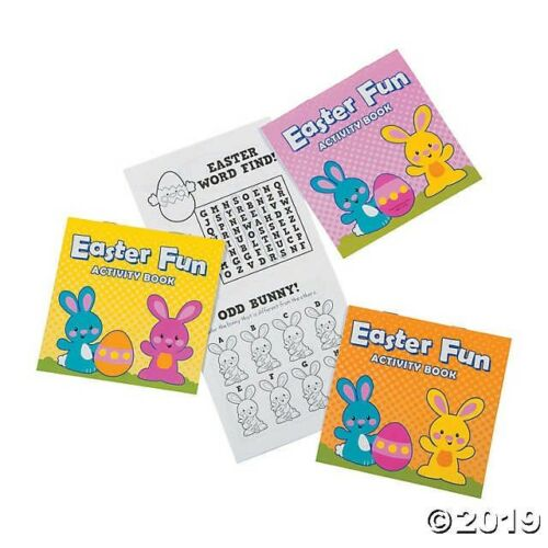 12 Easter Activity Books Egg Hunt Birthday Party Favors TEACHER PRIZE GIVEAWAY