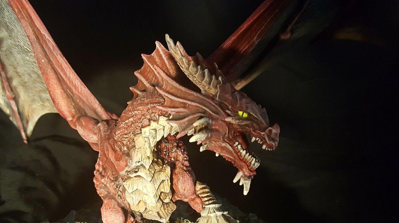 Edición Limitada Dragón Rojo Adulto Pintado Miniatura D&D servicio de comisión