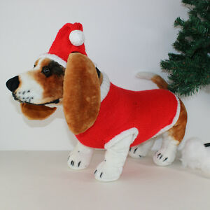 40a14c71b6d64 Image is loading PRINTED-INSTRUCTIONS-DOG-CHRISTMAS-SANTA-HAT-amp-COAT-