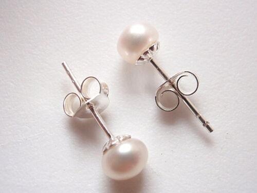 Cultured Pearl 9mm Stud Earrings 925 Sterling Silver Corona Sun Jewelry 9 mm