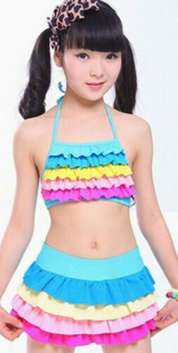 Girls Kids Bikini Swimsuit Swimwear Separates Bathing Suit US SIZE 8 10 12