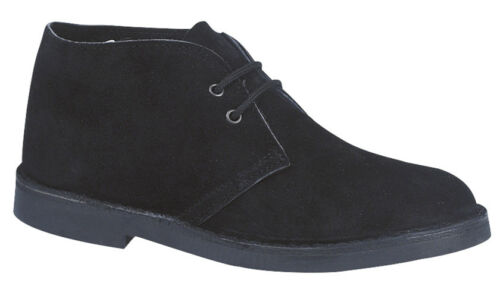 Roamers M467AS 2 Eyelet Desert Boots Unisex Real Suede Leather  Round Toe UK3-15
