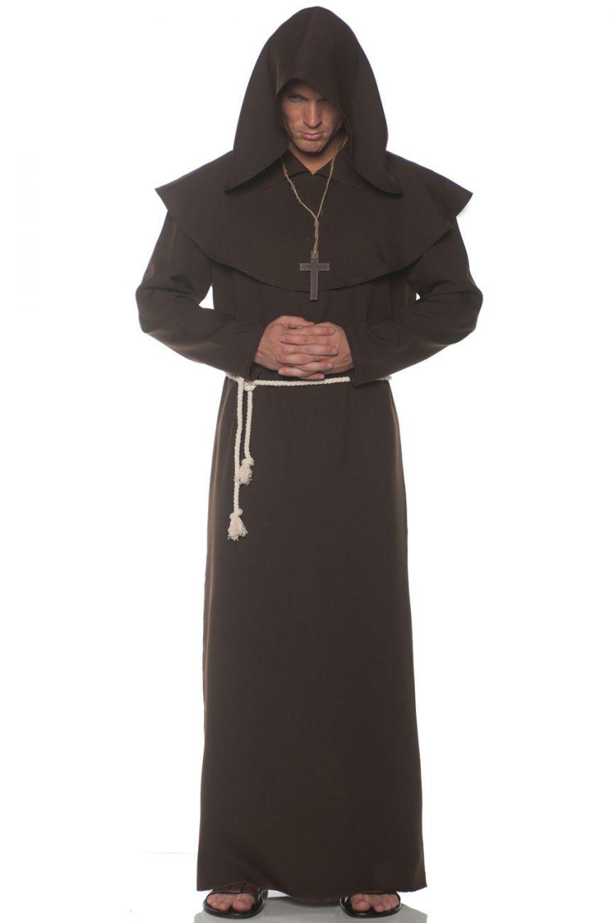 Underwraps Mönch Robe Religiös Heilige Braun Erwachsene Herren Herren Herren Halloween Kostüm | Qualitativ Hochwertiges Produkt  | Haben Wir Lob Von Kunden Gewonnen  | Adoptieren  e2e094