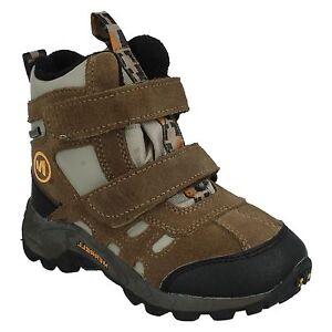 boys Merrell Brown Riptape  strap Ankle Boot MOAB POLAR MID J95435