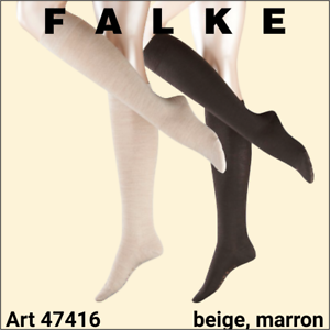 39-42 DESTOCKAGE 60/% Falke 47416 Chaussettes hautes laine marron