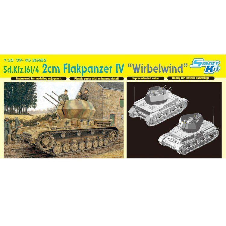 Dragon 6540 Sd.Kfz161 4 2 cm Flakpanzer IV Wirbelwind 1 35 scale model kit