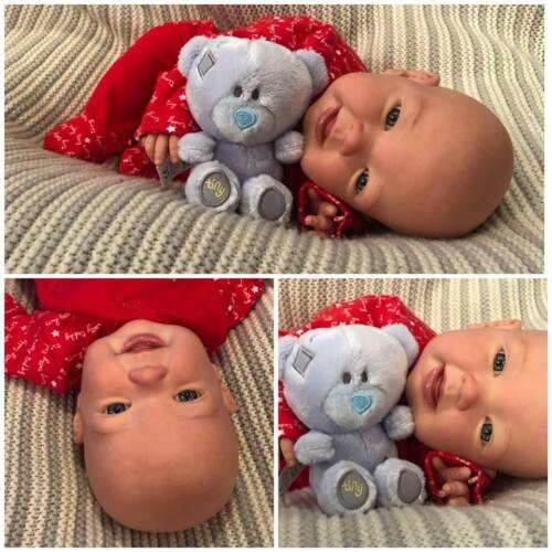 Bambola morbida realistico KIT Susie COMPLETO arto nessun corpo occhi azzurri blu manichino.