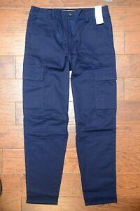 Lacoste Hh4680 Hombre Azul Marino Algodon Informal Cargo Pantalones W33 Eu 42 Ebay