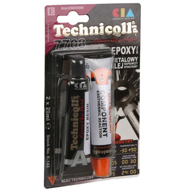 Technicqll Epoxy Cold Weld Metal Alloy Bronze Steel Adhesive Glue 2 x 20 mL E143