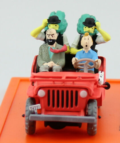 Tim und Struppi TinTin Jeep Willys rot ca 1:43 Atlas Modellauto