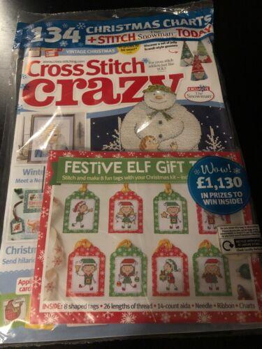 Punto De Cruz Loco Revista diciembre 2019 # 262 = Kit Punto libre el muñeco de nieve