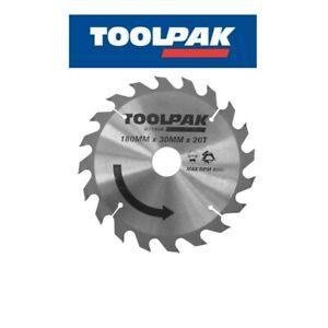 Toolpak-TCT-180mm-x-20-denti-lama-per-tagli-veloci-Legno-Grande-Valore