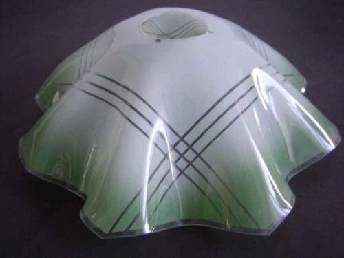 K0953 Ø ca Lampenschirm Glas Glasschirm Ersatz E27 Art Deco-Stil 23cm