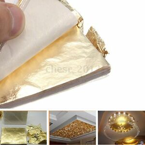 100x-Sheet-Pure-100-Gold-Copper-Leaf-14-x-14-cm-Craft-For-Gilding-Art-Work-DIY