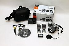 Sony Alpha NEX-5N Digital Camera Silver 16.1MP 1080 HD 18-55mm Flash HVL-F7S