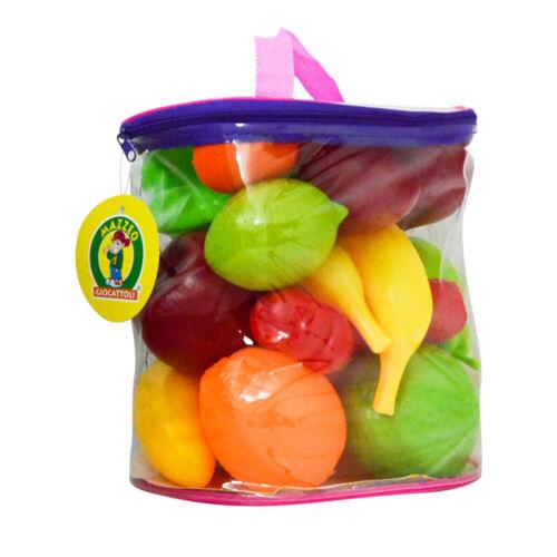 Frutta giocattolo per bambini gioco cibo bimbo colorata fruttivendolo borsetta