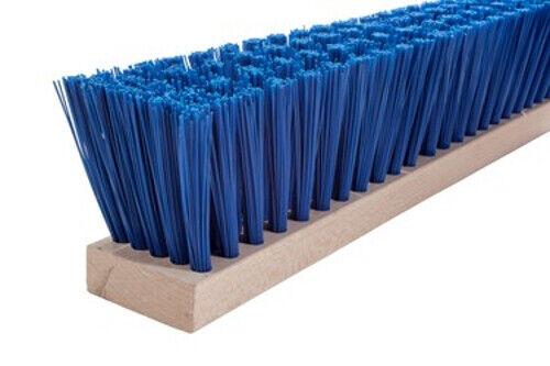 "Magnolia Brush #1318-B 18/"" Heavy Guage Blue Polypropylene Street Broom"