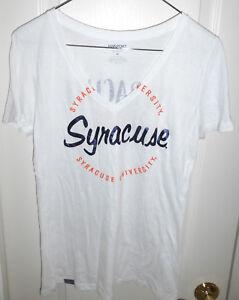 f6c446343 Image is loading SYRACUSE-ORANGE-Womens-Sheer-V-Neck-T-Shirt-