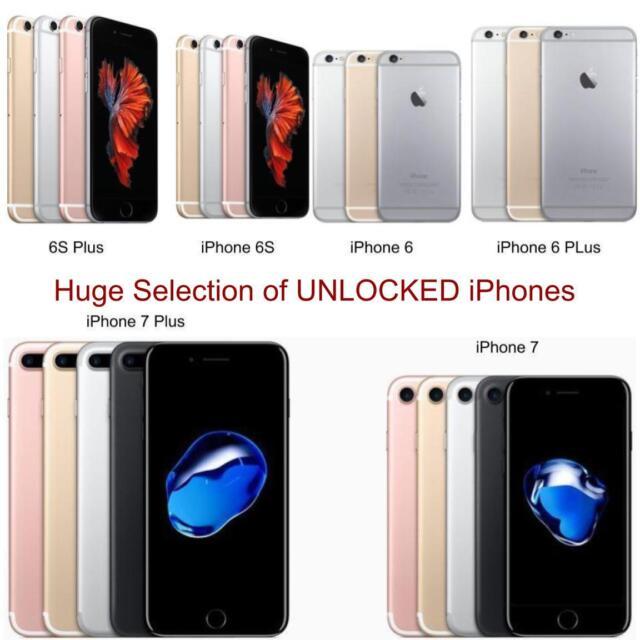 Apple iPhone 6, 6 Plus, 6S, 6S Plus, 7, 7 Plus | GSM UNLOCKED 4G LTE Smartphones