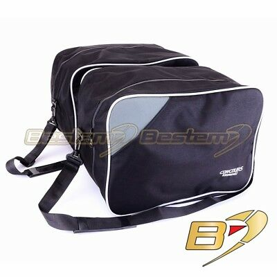 Silver Pipin w Kawasaki Concours ZG1000 Saddlebag Side Case Liner Liners Wide