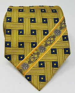 Cravatta-Gianni-Versace-100-pura-seta-tie-silk-original-made-in-italy-handmade