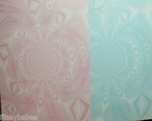 2 x A4 Vortex Backing Paper in Pink /& Blue 120gsm NEW