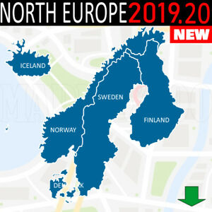 Details about North Europe NORDICS Scandinavia 2019 20 GPS NAVIGATION Map  for GARMIN DEVICES