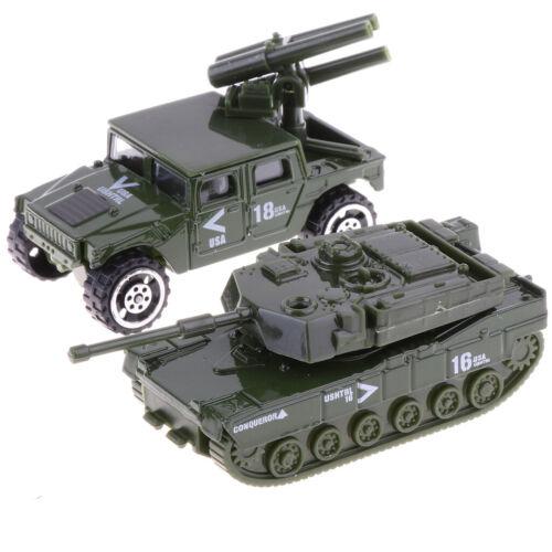 MagiDeal 6Pcs 1:87 Diecast Alloy Militärfahrzeug Panzer Toy Playset für