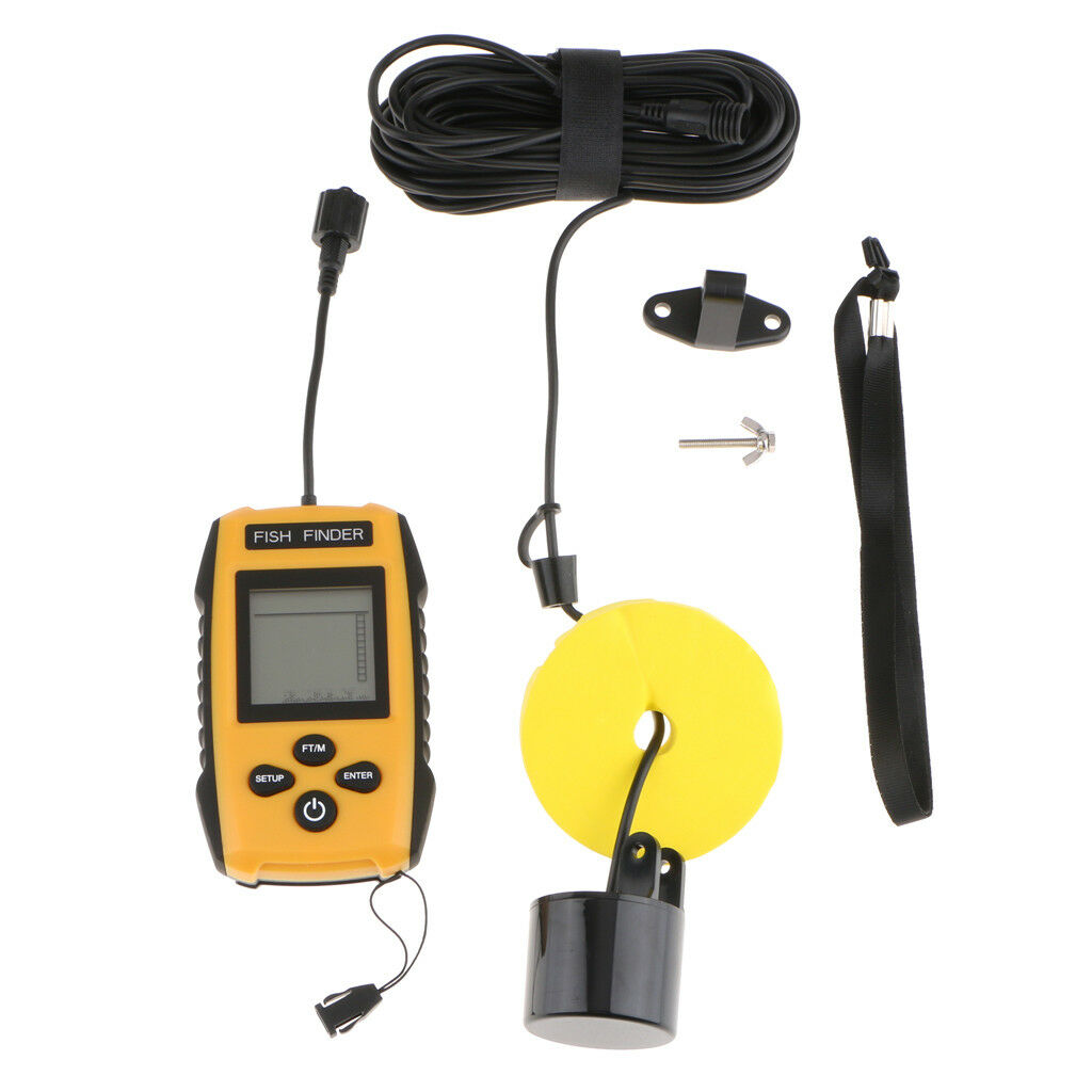 Portable LCD Fish Finder Fishfinder with 10M Wired Sonar Sensor Transducer
