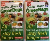 Debbie Meyer Green Bags - Fruit & Vegetable Storage Bags - 20 Large + 20 Medium