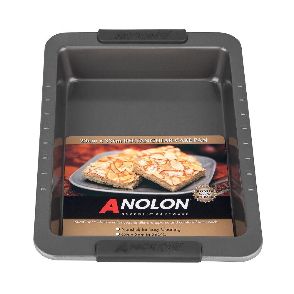 New Anolon Suregrip Rectangular Cake Pan 23 x 33cm Cookware Gadget High Quality