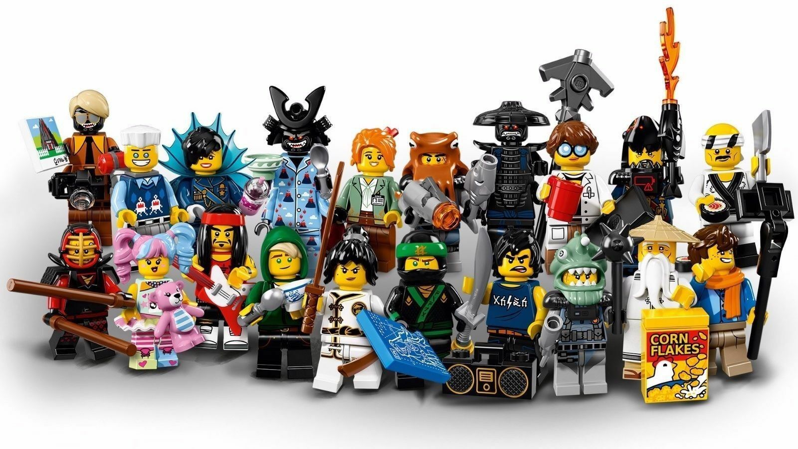 Complete Set of Lego Ninjago Movie Minifigures 71019 -Sealed Bags