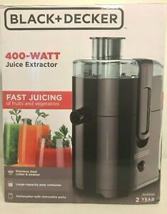 BLACK-DECKER-JE2400BD-400-Watt-Fruit-Vegetable-Juice-Extractor-Black-NEW-IN-BOX