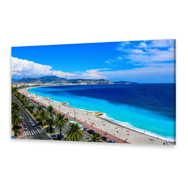 - Tela Immagini Immagine Parete stampa su canvas stampa d'arte spiaggia Nizza