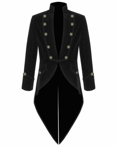 Men/'s Velvet VLADIMIR TUXEDO Jacket Tail coat Goth Steampunk Victorian